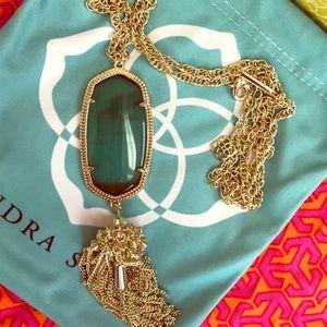Kendra Scott Rayne Emerald Necklace